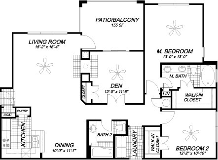1,367 sq. ft. B5 floor plan