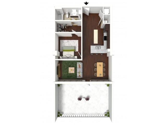 850 sq. ft. Deluxe Suite floor plan
