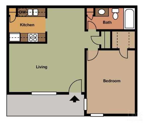 647 sq. ft. floor plan