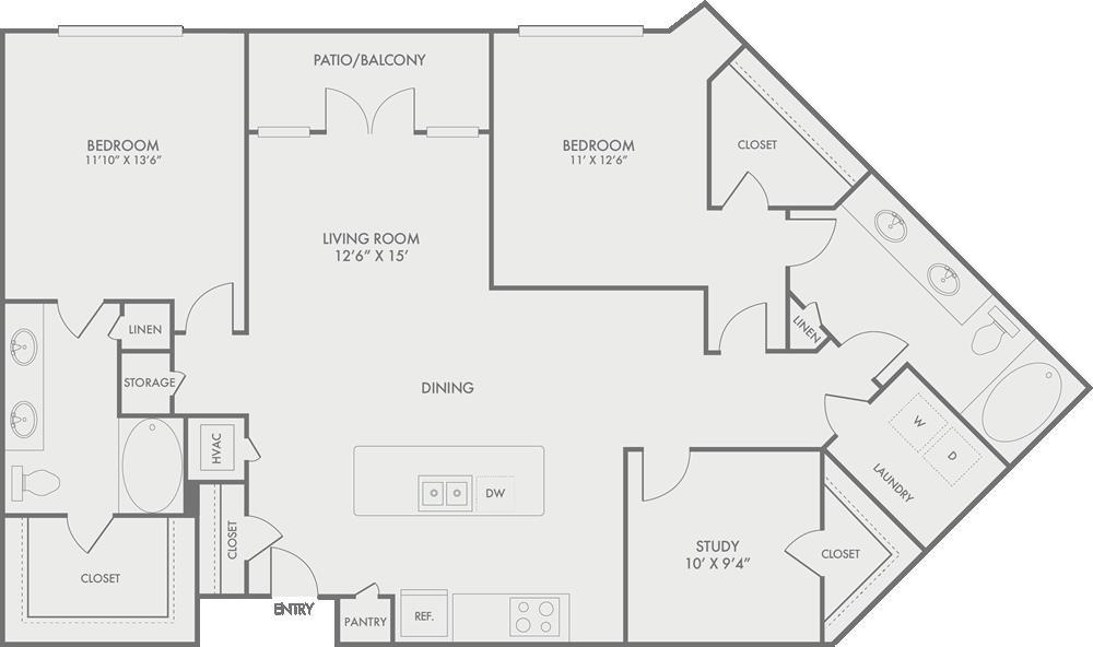 1,473 sq. ft. B9 floor plan