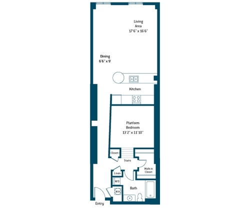971 sq. ft. BB floor plan