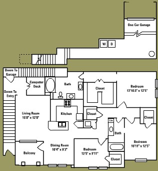 1,663 sq. ft. F3* floor plan