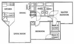 968 sq. ft. A floor plan