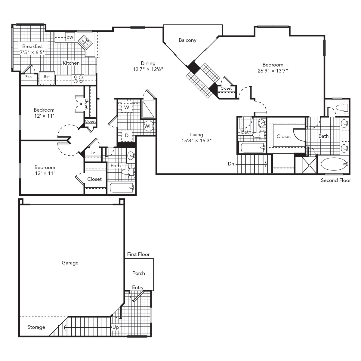1,820 sq. ft. Tranquil floor plan