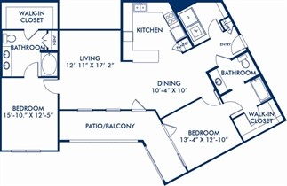 1,469 sq. ft. B6 floor plan
