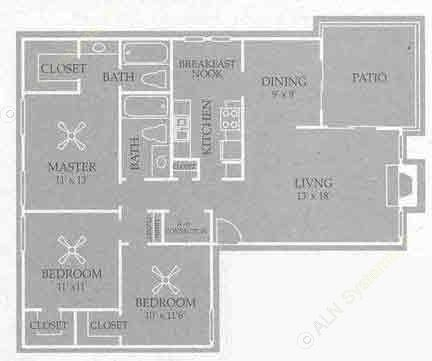 1,204 sq. ft. Gatlinburg floor plan