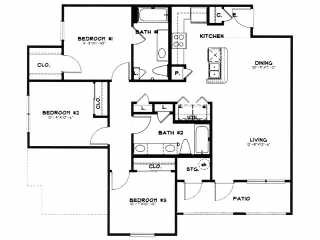 1,100 sq. ft. to 1,172 sq. ft. 40 floor plan