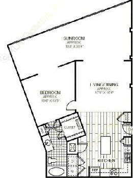 1,275 sq. ft. AB floor plan