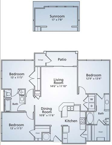 1,557 sq. ft. C1S floor plan
