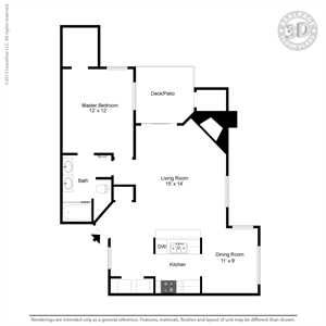 816 sq. ft. A4 floor plan