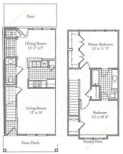 945 sq. ft. C floor plan