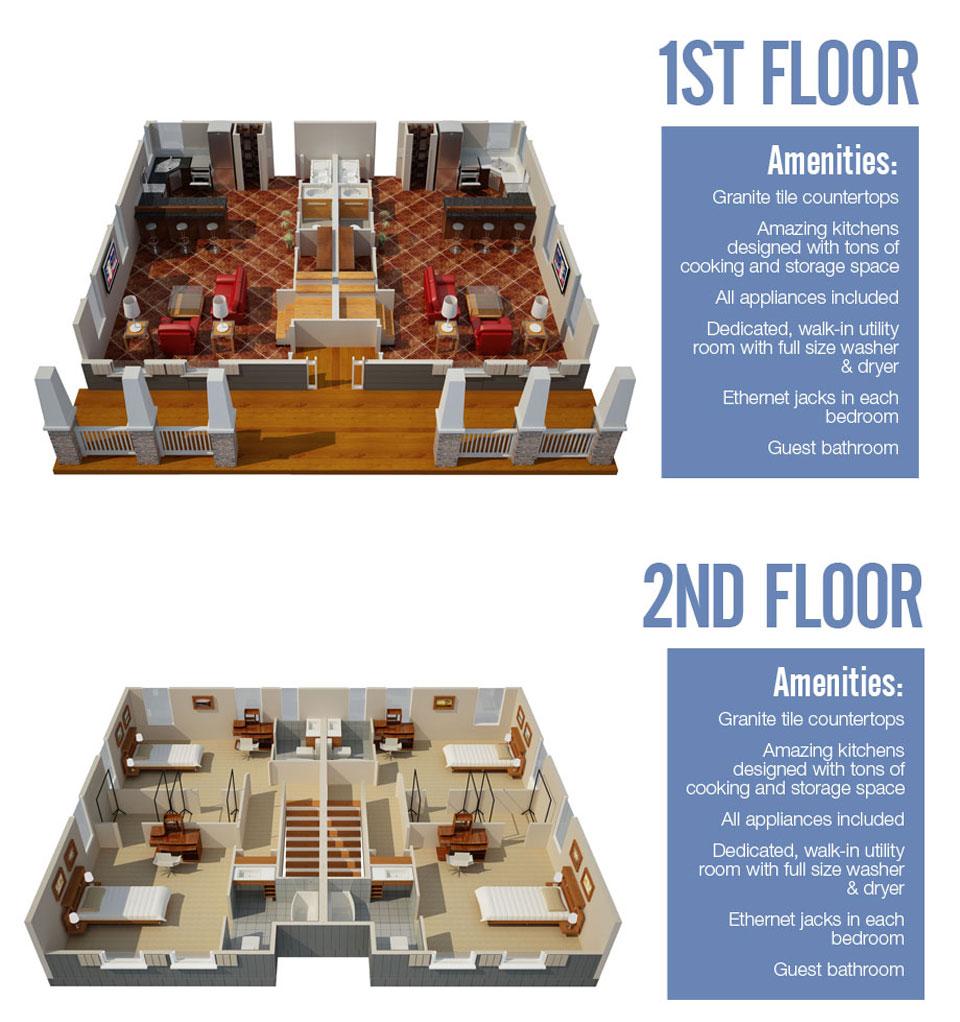 1,500 sq. ft. Aspen floor plan