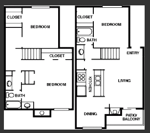 1,355 sq. ft. floor plan