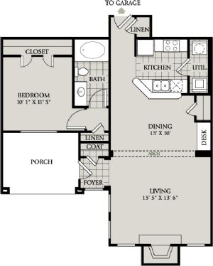 827 sq. ft. A4 floor plan