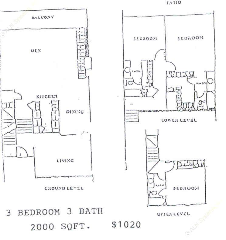 2,000 sq. ft. floor plan