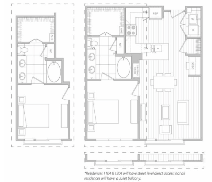819 sq. ft. G floor plan
