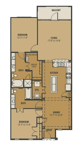 1,407 sq. ft. Terra floor plan