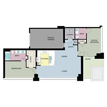 1,525 sq. ft. L/W1 floor plan