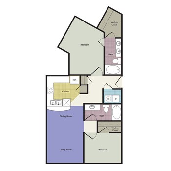 1,224 sq. ft. Venice floor plan