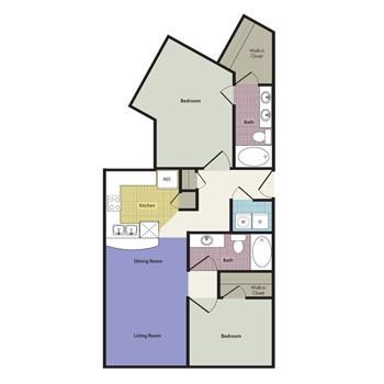 1,224 sq. ft. Venice floor plan