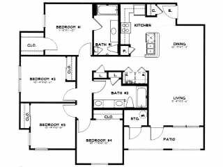 1,300 sq. ft. 40 floor plan