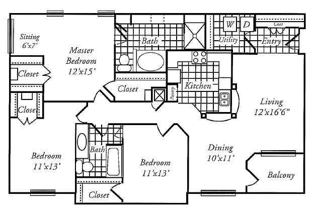1,535 sq. ft. G floor plan