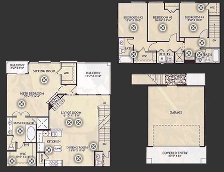 1,924 sq. ft. D2/D2U floor plan