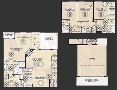 1,924 sq. ft. D2/D2U floor plan