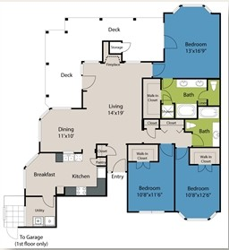 1,630 sq. ft. C2 floor plan