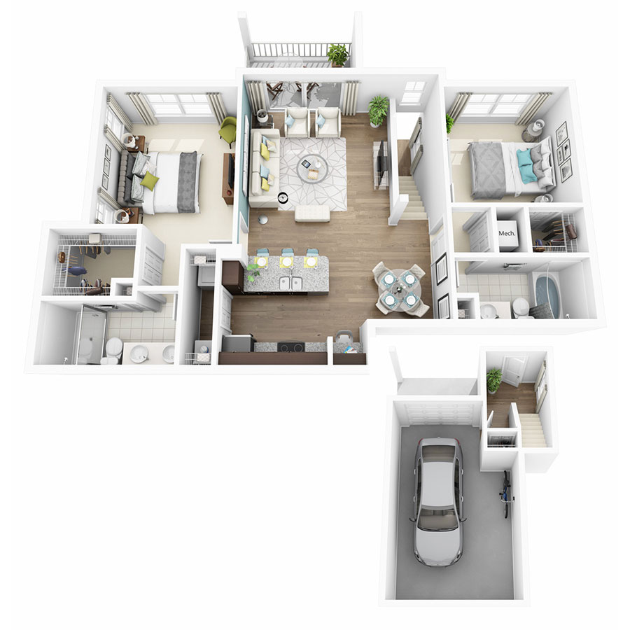 1,176 sq. ft. Excite floor plan