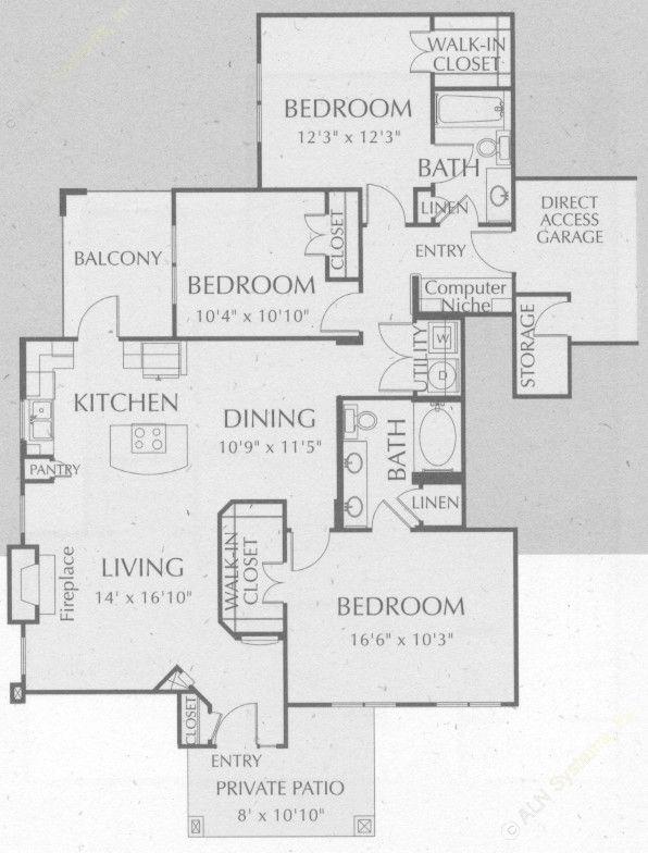 1,467 sq. ft. Comanche floor plan