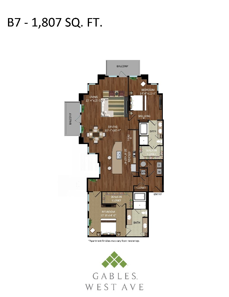 1,807 sq. ft. B7 floor plan