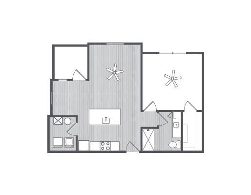 792 sq. ft. Cyprus floor plan