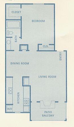 684 sq. ft. Indus floor plan