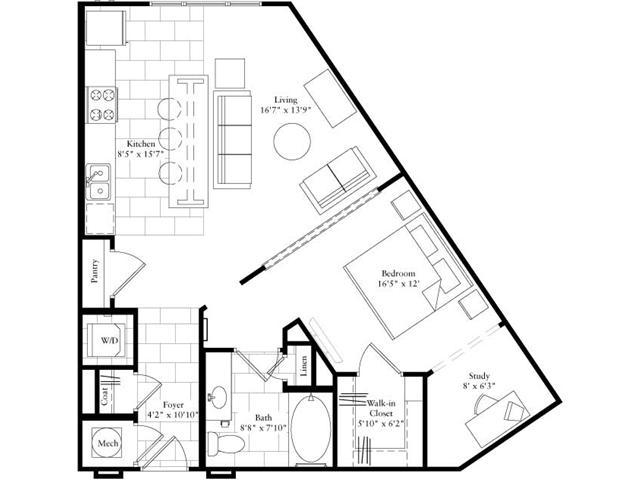 787 sq. ft. floor plan