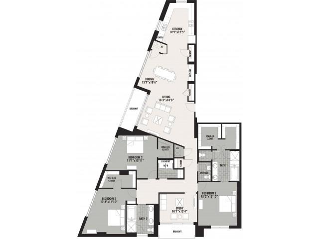 2,710 sq. ft. C3 floor plan