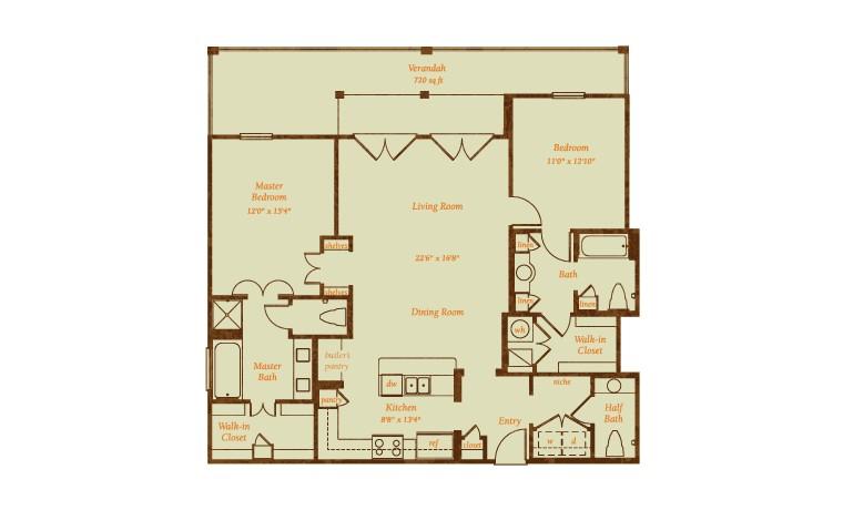2,115 sq. ft. Coronado floor plan