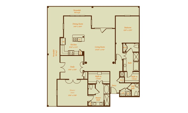 2,591 sq. ft. Calaveras floor plan