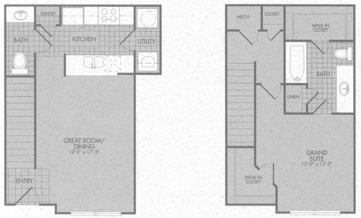 839 sq. ft. Danville 50% floor plan