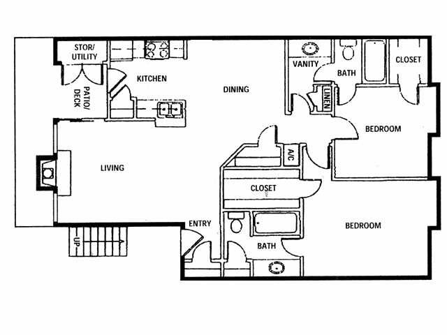 1,169 sq. ft. C1 floor plan