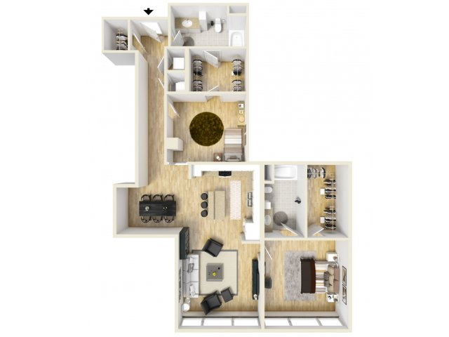 1,358 sq. ft. Magnolia floor plan