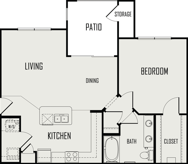 800 sq. ft. Blanco floor plan