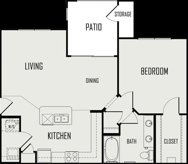800 sq. ft. Blanco floor plan