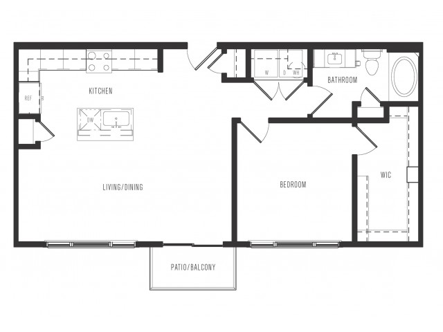 794 sq. ft. A4 floor plan