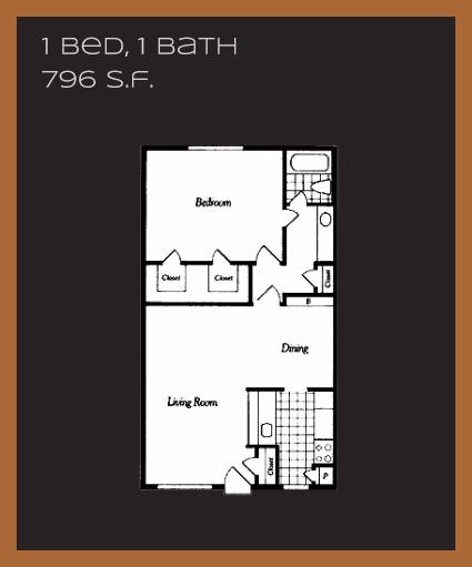 796 sq. ft. C floor plan