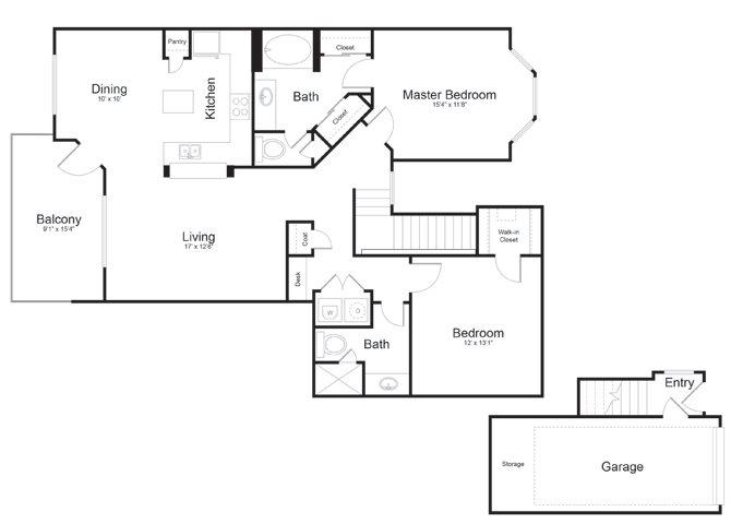 1,218 sq. ft. San Jacinto floor plan