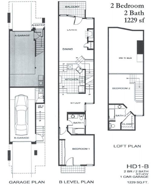 1,229 sq. ft. SB3 floor plan