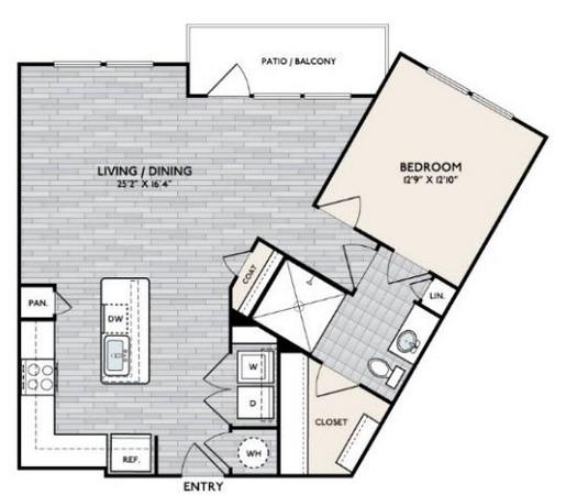 950 sq. ft. A10 floor plan