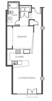 1,048 sq. ft. P1.5 floor plan