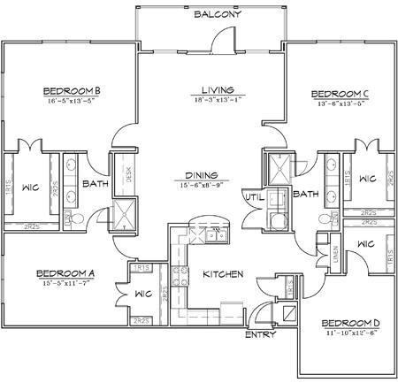 1,840 sq. ft. floor plan
